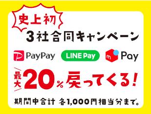 7月11日~21日3社合同「最大20%戻ってくる!キャンペーン」を開催中!